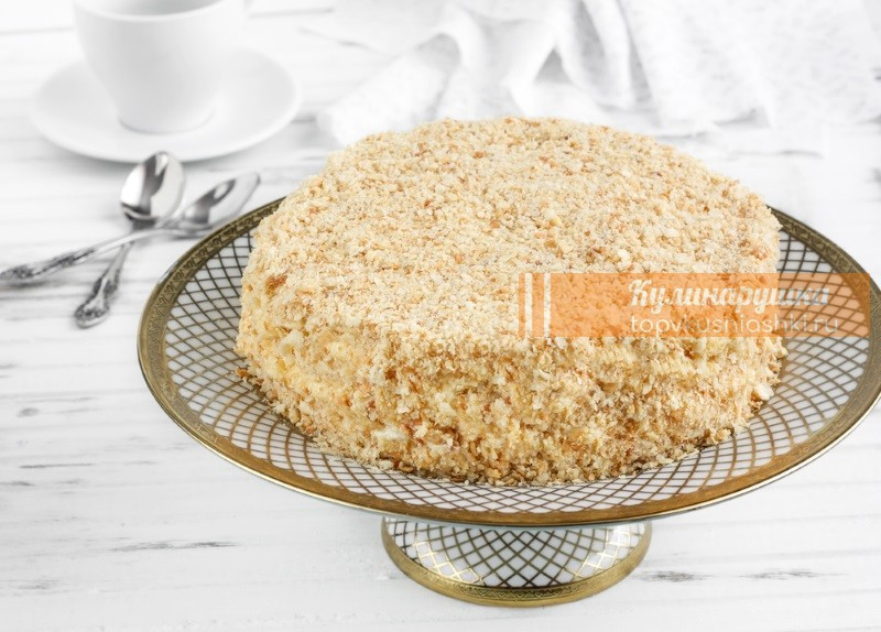 торт наполеон готовим дома