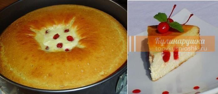 Восхитительный пирог — ватрушка на завтрак.