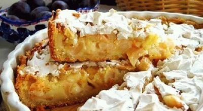 Пирог с яблочной начинкой (Цветаевский): пошаговый рецепт
