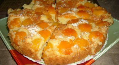 Абрикосовый пирог. Это очень вкусный и простой рецепт