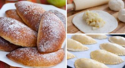 Пышные и румяные, это мои любимые пирожки с яблоками