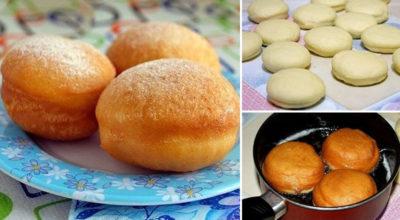 Очень вкусные пончики с начинкой