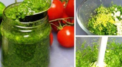 Соус из укропа: ваша любимая ароматная зелень будет доступна весь год