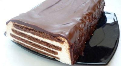 Творожный торт «Полосатый» без выпечки